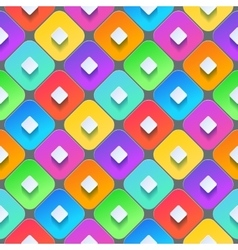 Abstract 3d geometric background Colorful vector image vector image