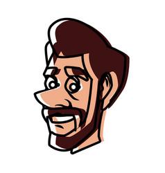 Adult man face cartoon vector