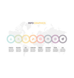 Business infographics presentation with 8 options vector