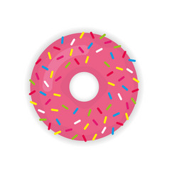 Donut icon modern flat vector