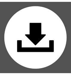 Download flat black and white colors round button vector