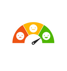 Emoticons scale feedback request vector