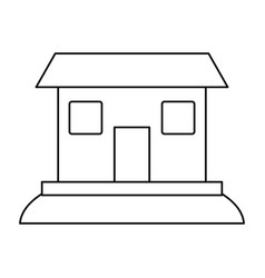 facade house city vector image