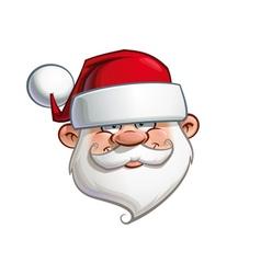 Happy santa head vector