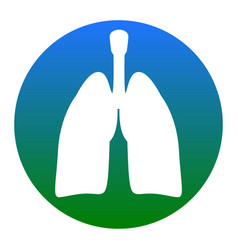Human organs lungs sign white icon in vector