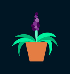 Icon in flat design hyacinth vector