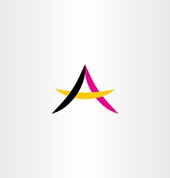 Letter a simple logo symbol vector