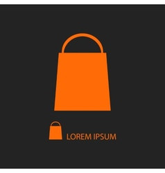 Orange shopping bag vector image