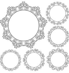 ornaments8Rou4 vector image vector image