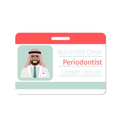 Periodontist medical specialist badge vector