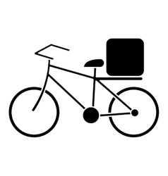 Pizza food delivery bicycle pictogram vector