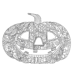 Pumpkin for Halloween coloring vector image
