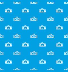 road bag pattern seamless blue vector image