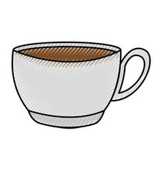 scribble coffee cup cartoon vector image vector image