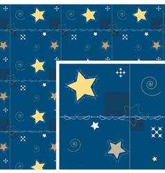 seamless background star and decoration night vector image vector image