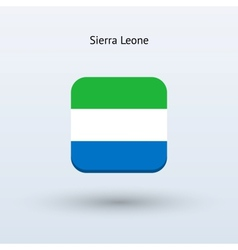 Sierra leone flag icon vector