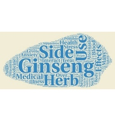 The good and bad side of ginseng text background vector