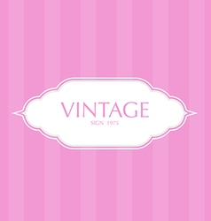 Vintage frame badges and labels background vector image vector image