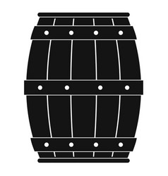Wooden barrel icon simple style vector