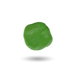 Piece of green clayround spot vector