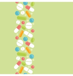 Pills vertical seamless pattern background border vector