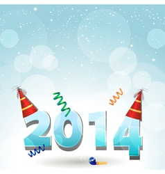 2014 party hat background vector