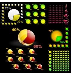 Diagram set vector