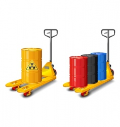 Truck with radioactive waste vector