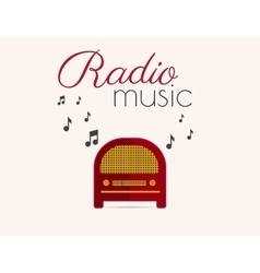 Radio music vector