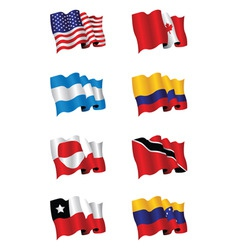 Americas flags vector