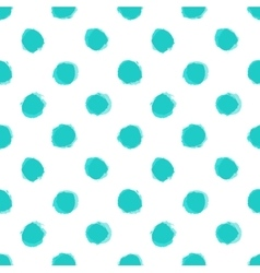 Seamless pattern with distressed dry brush dots vector