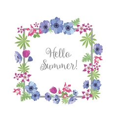 Floral frame summer greeting card design t-shirt vector