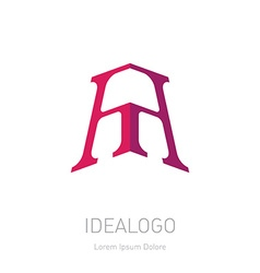 A and A initial logo or monogram logotype design vector image
