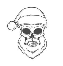 Bad santa claus biker poster heavy metal vector
