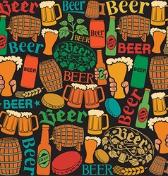 Beer pattern design vector
