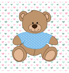 Blue bear toy vector
