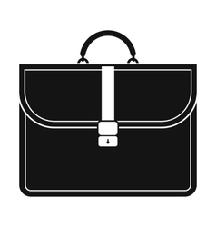Brown business briefcase black simple icon vector image vector image