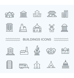 Building Icons set Government vector image vector image