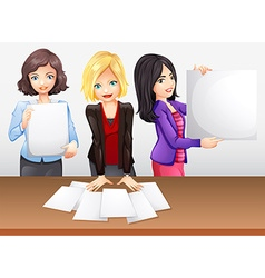 Businesswomen working in team vector image vector image