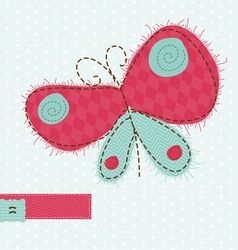 butterfly greeting card vector image vector image