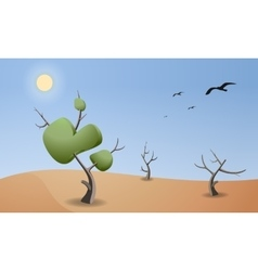 Cartoon landscape of desert for game design vector