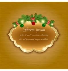 Christmas greeting and invitation card vector image vector image