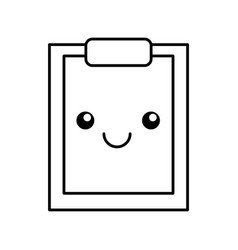 Clipboard paper kawaii character vector