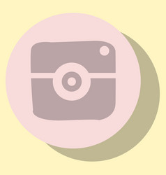 Flat web icon of modern lineart camera digital vector