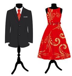 Formal dress set vector image vector image