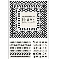 Geometric decorative frame triangle rhombus vector