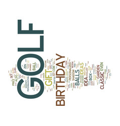 Golf birthday gift text background word cloud vector