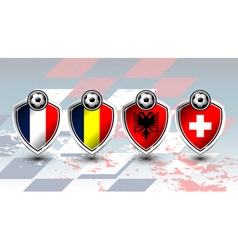 Group a of soccer europe vector