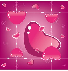 heart background valentine day vector image