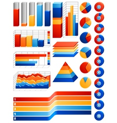 infographics set vector image vector image